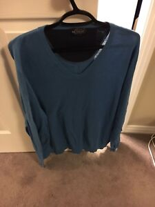 Men's Sweaters-new- XL- Olive Green- $12, 1-GUC- Blue- $10