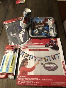 Transformer Party decorations