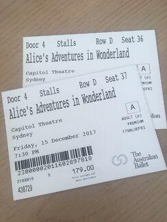 Australian Ballet Ticket swap for 'Alice Adventures in Wonderland'