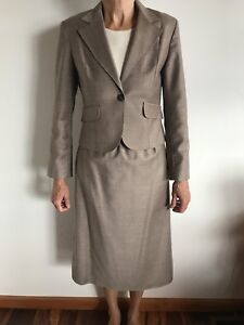 Vintage Arruba Fashions Montreal Pure Virgin Wool Sand Suit 9/10