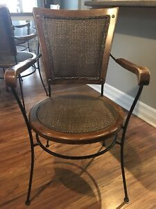 Wrought Iron whicker Chairs