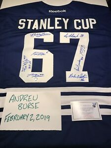 1967 Toronto Maple Leafs Stanley Cup Autographed Jersey