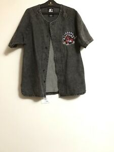 Starter x UO Raptors button up size small