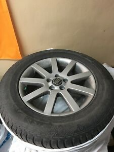 Tires and rims taken off a Volvo XC60, 1 winter only