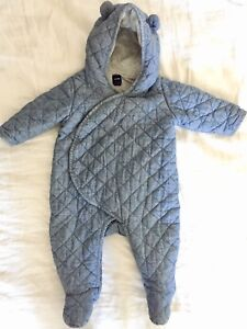 Cozy Baby Gap quilted and lined suit 6-12 months.