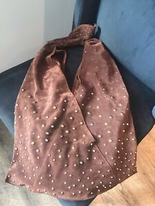 Gorgeous brown suede Marciano purse!
