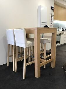 Solid Mango Timber Bar Height Table - Excellent Condition Kensington Eastern Suburbs Preview