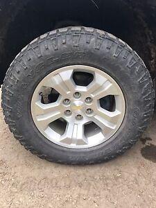 """Silverado factory18"""" 6 bolt rims with duratrac tires"""