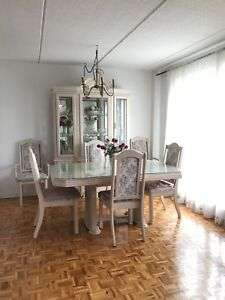 Bleached oak Dining Room aset