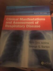 Respiratory therapy textbooks