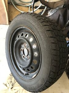 215/60/R16 Avalanche winter tires with steel rims