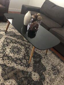 Structube black wood coffee table mid century modern