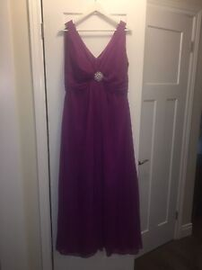 Fuchsia Dessy Collection Maternity gown