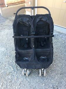 Baby Jogger City Mini Double Stroller with belly bar