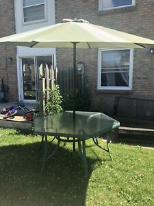 Patio Table and Umbrella for Sale