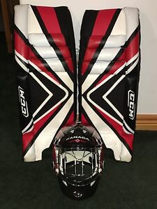 CCM ROAD HOCKEY GOALIE PADS & MASK