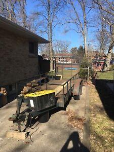 Toy hauler trailer