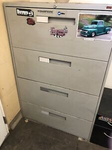 Large and small filing cabinet