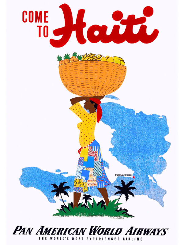 Come To Haiti Caribbean Island Sea Ocean Beach Travel Advertisement Art Poster