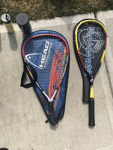 Squash and racquetball racquets
