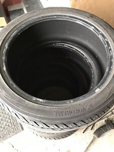 Yokohama tires 2X 225/45/18 and 2X 245/45/18