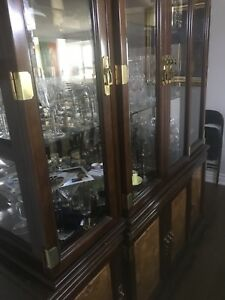 FORMAL LARGE  DINNING TABLE AND 2 PIECE HUTCH