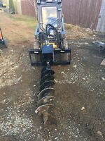 Post hole digging & mini excavator service