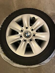 4 Run Flat Winter Tires on Rims with wheel covers