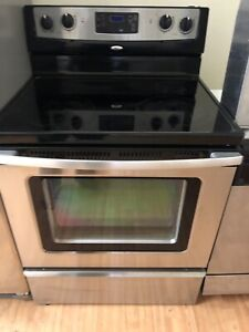 """Whirlpool 30"""" electric glass top stove range oven"""