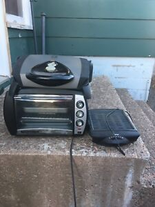 Toaster oven and grill