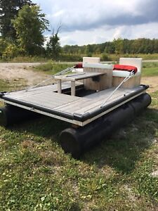 Floating picnic table party raft
