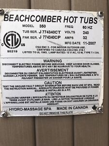 Beachcomber 350 hot tub.