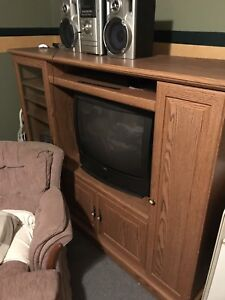 Solid wood tv cabinet.