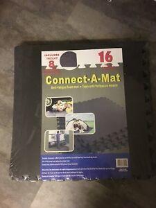 Connect o Mat - Black Foam Flooring tiles - 4 packages