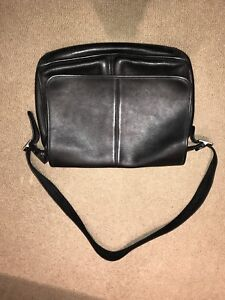 Real leather Coach Side Laptop Bag