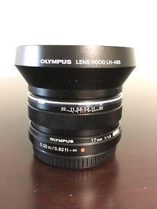 Olympus 17mm 1.8 m4/3 lens