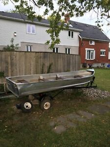 Perfect fishing boat with trailer