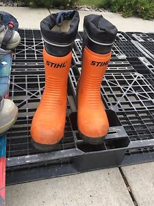 STIHL Steel toe rubber boots