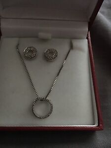 Spence diamond necklace and earring