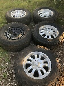 """17"""" Rims and tires with spare 6 bolt"""