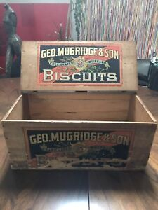 Antique Geo Mudridge & Sons Biscuits box $CAD