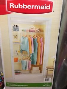 New Rubbermaid Closet organizer