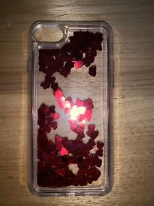 red scatter heart iphone 7 case Bradbury Campbelltown Area Preview