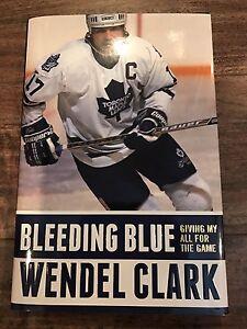 Wendel Clark signed autographed book