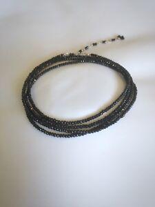 """Anne Sportun 34"""" 14k black Spinel wrap bracelet"""