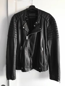 "All Saints ""Jasper"" Leather Jacket (size L)"