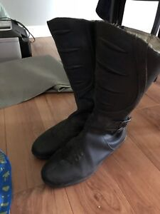 Ladies size 10 motorcycle boots.