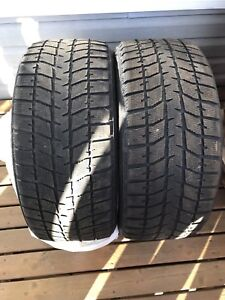 Two 245/45R17 Blizzak WS70 winter tires