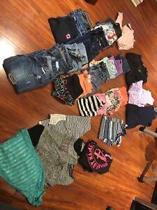 Lot de vêtements jeune fille grandeur 10-12-14