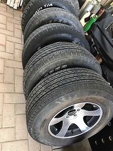 245/70R16 TJ Jeep wrangler tyres and rims Joondalup Joondalup Area Preview